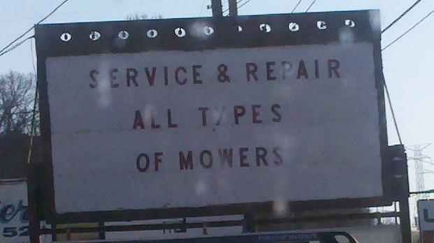 Commercial Lawn Mower Repair