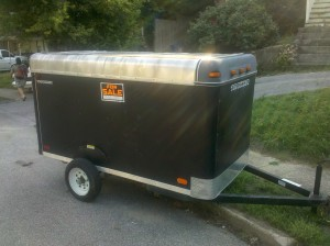Enclosed Lawn Mower Trailer For Sale